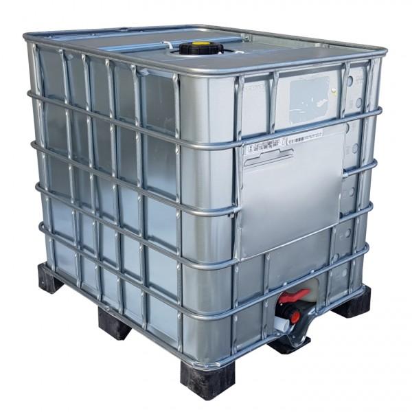 1000l IBC Container Wassertank Stahlmantel GESPÜLT GFK Kuststoffpalette