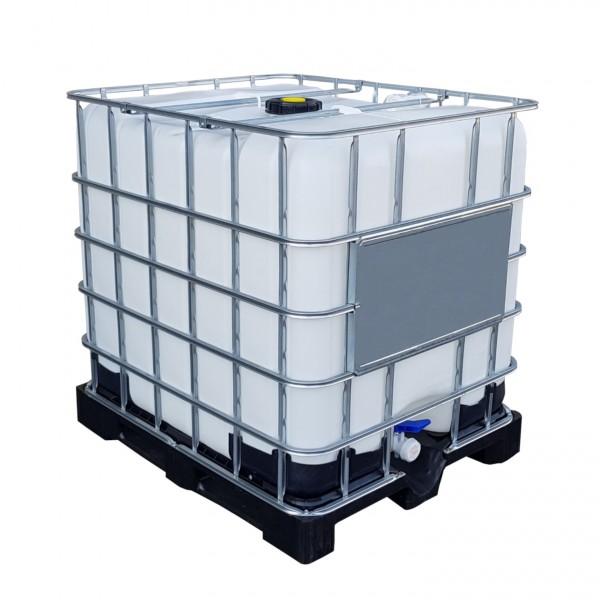 Prächtig 1000 l IBC Container Wassertank Gespült auf GFK Kunststoffpalette &XI_75