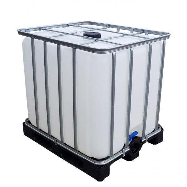 1000l IBC Wassertank Container auf Kunststoffpalette/Restentleert