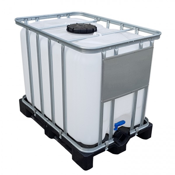 600l IBC Wassertank Container auf Kunststoffpalette/Restentleert