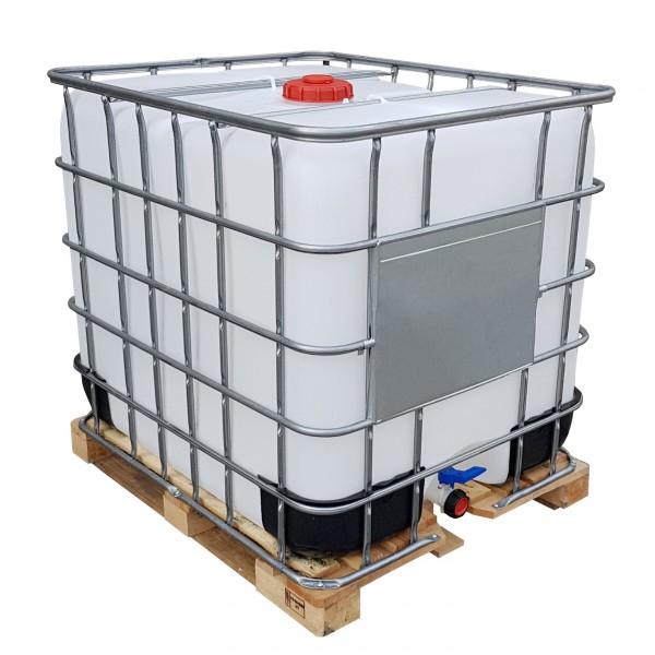 1000 l IBC Container Wassertank Gespült auf Holzpalette