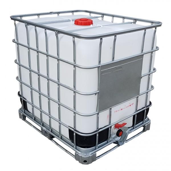 1000 l IBC Container Wassertank Gespült auf Stahlpalette