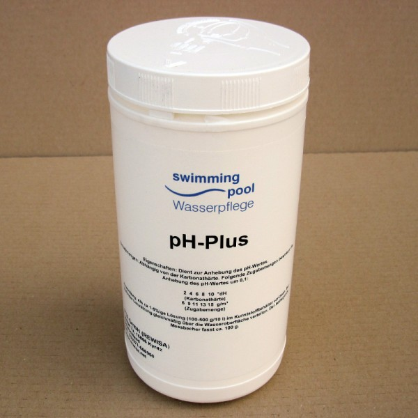 swimming pool pH-Plus Granulat 1kg
