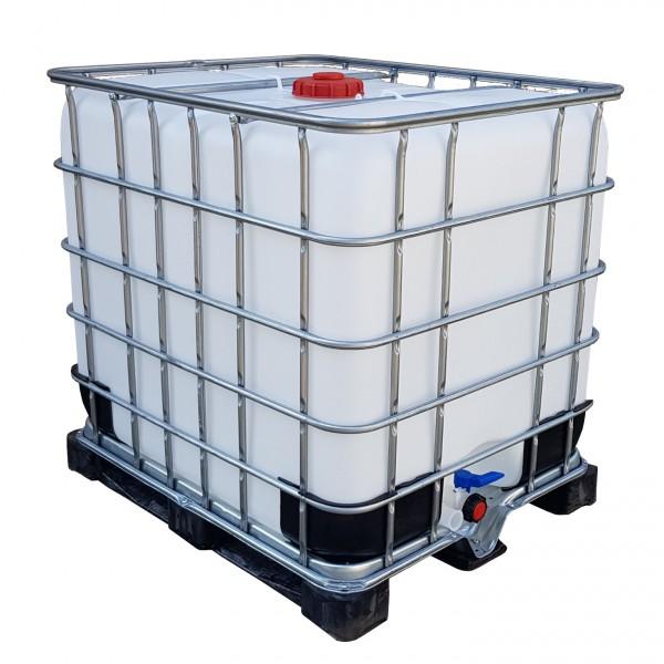 1000l IBC Container Wassertank Stahlwanne GESPÜLT GFK Kunststoffpalette