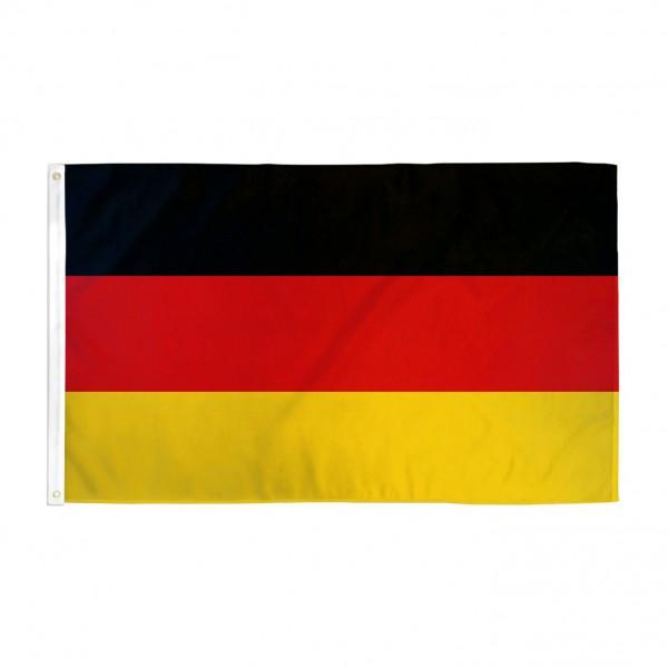 Fahne Deutschland 150cm x 90cm mit Ösen Flagge Germany