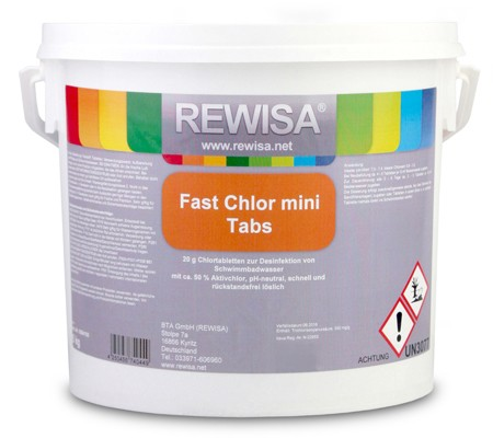 Rewisa Fast Chlor Mini Tabs 20g 5kg