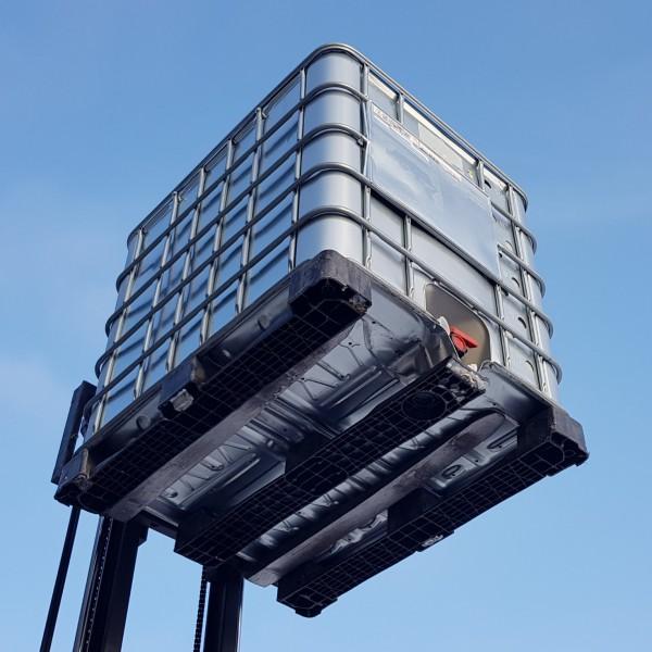 KLAREWO 1000 l IBC Wassertank Container Regenwassertank GFK Kunststoffpalette GESP/ÜLT